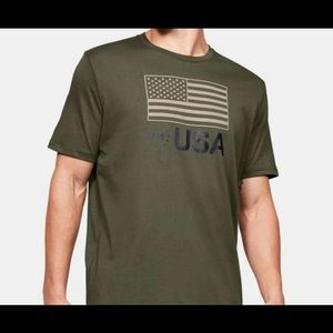 New Under Armour Flag Freedom Shirt